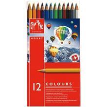مداد رنگي 12 رنگ کارن داش مدل Hobby