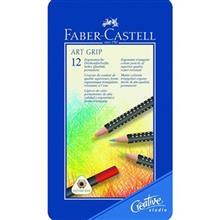 مداد رنگی 12 رنگ فابر کاستل مدل آرت گریپ