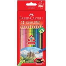 مداد رنگي 12 رنگ فابر کاستل مدل Colour Grip