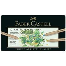 مداد رنگي پاستلي 12 رنگ فابر کاستل مدل پيت پاستل کد 112112