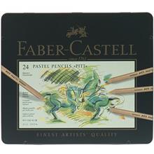 مداد رنگي پاستلي 24 رنگ فابر کاستل مدل پيت پاستل کد 112124