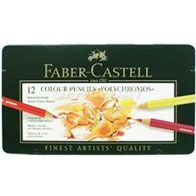 مداد رنگی 12 رنگ فابر کاستل مدل Polychromos