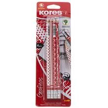 مداد مشکي کورس مدل Grafitos  - بسته 4 عددي