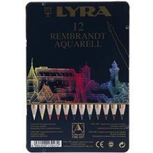 مداد آبرنگی 12 رنگ لیرا مدل Rembrandt