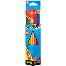 مداد رنگي 12 رنگ مپد مدل کالر پپس کد 183213