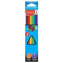 مداد رنگي 6 رنگ مپد مدل کالر پپس کد 832002