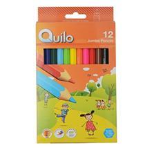 مداد رنگي 12 رنگ کوييلو طرح جامبو کد 634012
