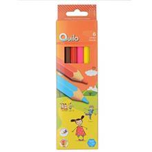 مداد رنگي 6 رنگ کوييلو طرح جامبو کد 634011