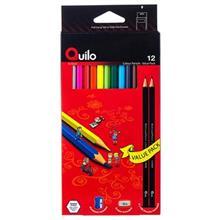 مداد رنگی 12 رنگ کوییلو مدل Value Pack