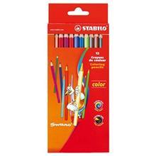 مداد رنگي 12 رنگ استابيلو  مدل سوانو