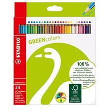 مداد رنگي استابيلو گرين کالرز 24 رنگ
