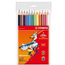 مداد رنگي استابيلو تريو سانو 12 رنگ