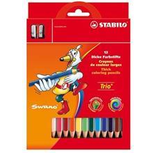 مداد رنگي استابيلو تريو تيک 12 رنگ