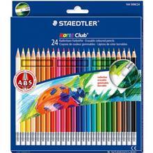 مداد رنگي 24 رنگ استدلر مدل Noris Club Erasable