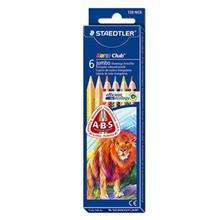 مداد رنگي 6 رنگ استدلر مدل نوريس کلاب جامبو 128