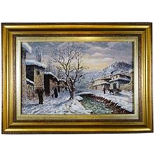 تابلو فرش طرح زمستان کد 116096