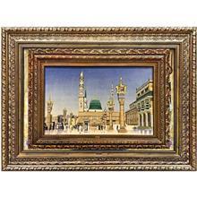 تابلو فرش طرح مسجد النبي کد 7395