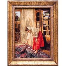 تابلو فرش طرح دختر روستايي کد 9901011