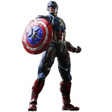 Play Arts Kai Captain America Action Figure Size Medium