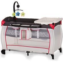 تخت و پارک بازي هاوک مدل Babycenter/Dots Black
