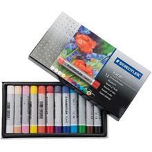 پاستل روغنی استدلر مدل کارات - بسته 12 رنگ