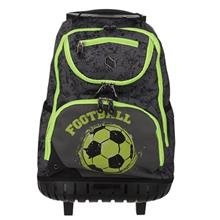 Pulse Wheels Green Football Backpack