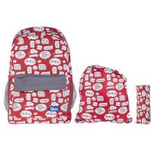 Quilo Conversation Design Backpack Pack