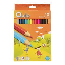 مداد رنگي 12 رنگ کوييلو سري Kids مدل Jumbo
