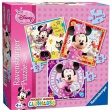 پازل 110تکه راونزبرگر مدل Minnie Mouse 3 In A Box