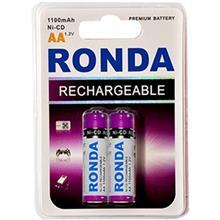 Ronda 1100mAh Ni-CD Rechargeable AA Battery Pack Of 2