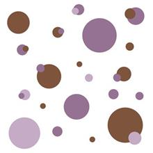 استيکر روميت مدل Just Dots Purple Peel And Stick Wall Decals
