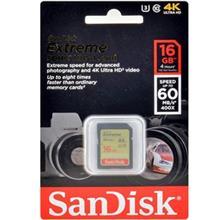 SanDisk Extreme UHS-I U3 60MBps 400X SDHC - 16GB