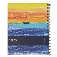 Sam Boat at sunset Homework Notebook