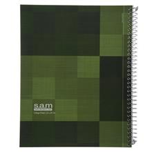 دفتر مشق سم طرح کلاژ سبز