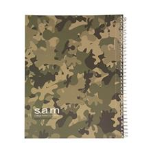 Sam Military Design 2 Homework Notebook Spiral-Bound