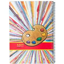 دفتر نقاشي سم طرح پالت رنگ