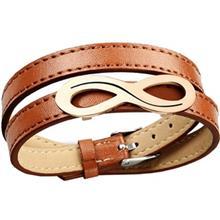 دستبند چرمي روزيني مدل MB16-1