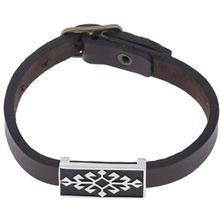 دستبند چرمی الف دال طرح 1