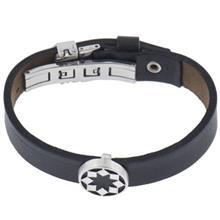 دستبند چرمی الف دال طرح 4
