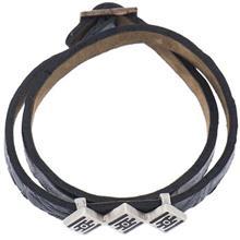 دستبند چرمی الف دال طرح 2