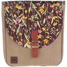 کیف دوشی پارچه ای گالری آزاده طرح گل عروس
