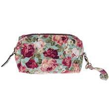 کیف آرایشی پارچه ای گالری صنم طرح گل رز سایز کوچک