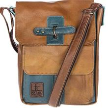 کیف دوشی چرم طبیعی گالری ستاک