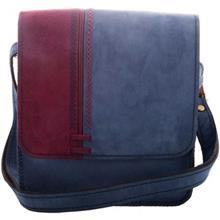 کیف دوشی چرم طبیعی گالری روژه مدل دو رنگ