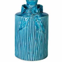 گلدان سرامیکی گالری ساتگین مدل استوانه ای طرح پاپیون سایز کوچک