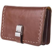 کیف دستی چرم طبیعی گالری ماندگار مدل پاسپورتی رمزدار
