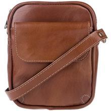 کیف دوشی چرم طبیعی گالری ماندگار مدل تک جیب