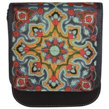 کیف دوشی چرم مصنوعی گالری وستای طرح کاشی کاری سنتی