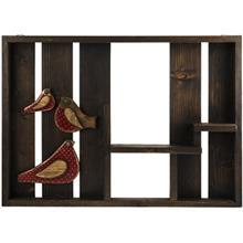طبقه چوبی گالری ویلو وود طرح پرنده قرمز
