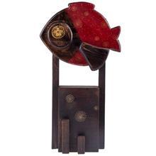 تابلو چوبی گالری ویلو وود مدل پایه دار طرح ماهی قرمز